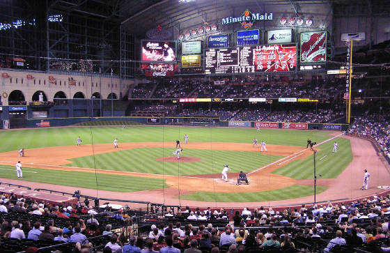 The pitch at Minute Maid park- Houston Tx